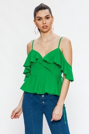 Jealous Tomato Green Tank Top - Front cropped