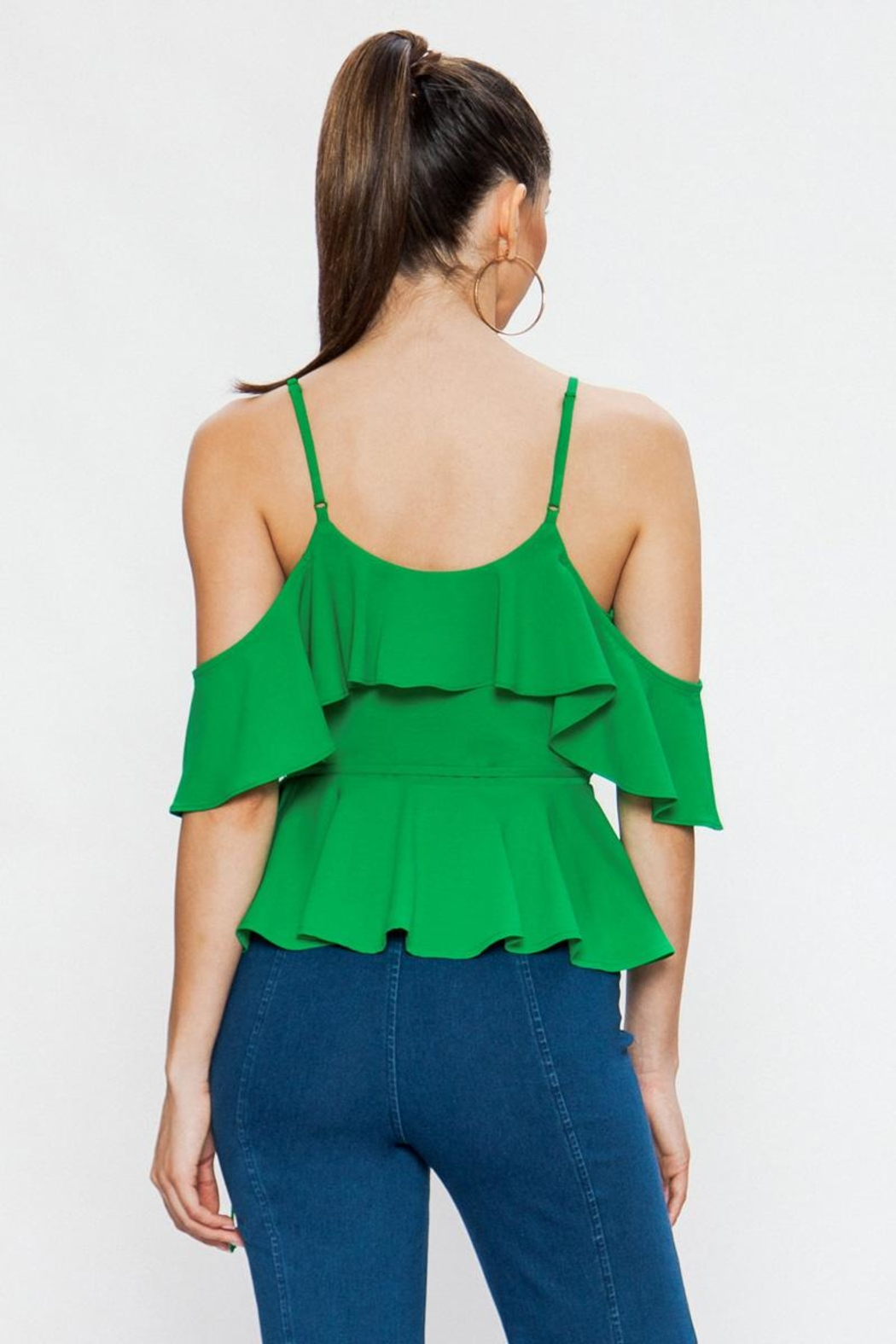 Jealous Tomato Green Tank Top - Side Cropped Image