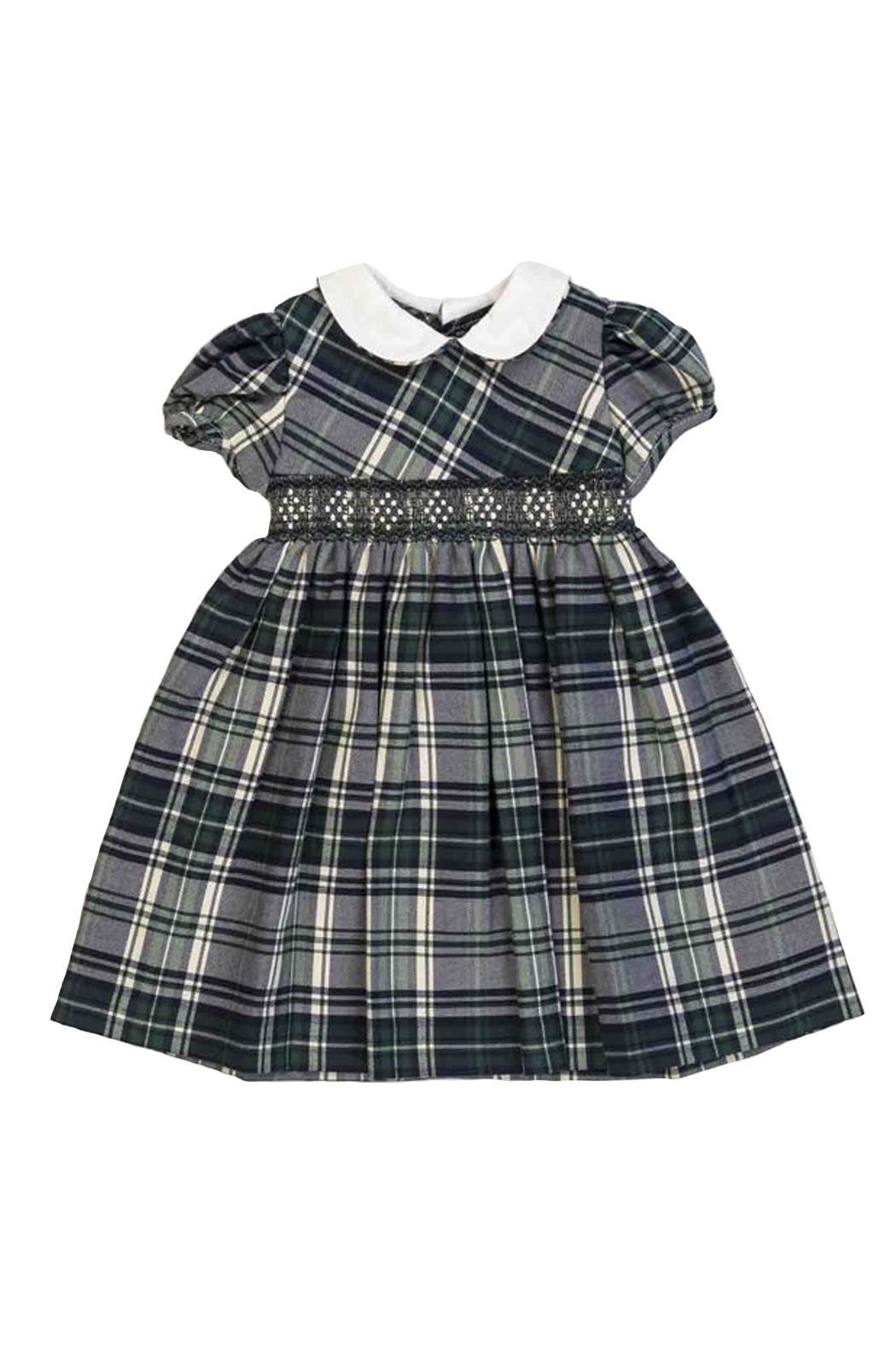 Malvi & Co. Green Tartan Dress. - Front Cropped Image