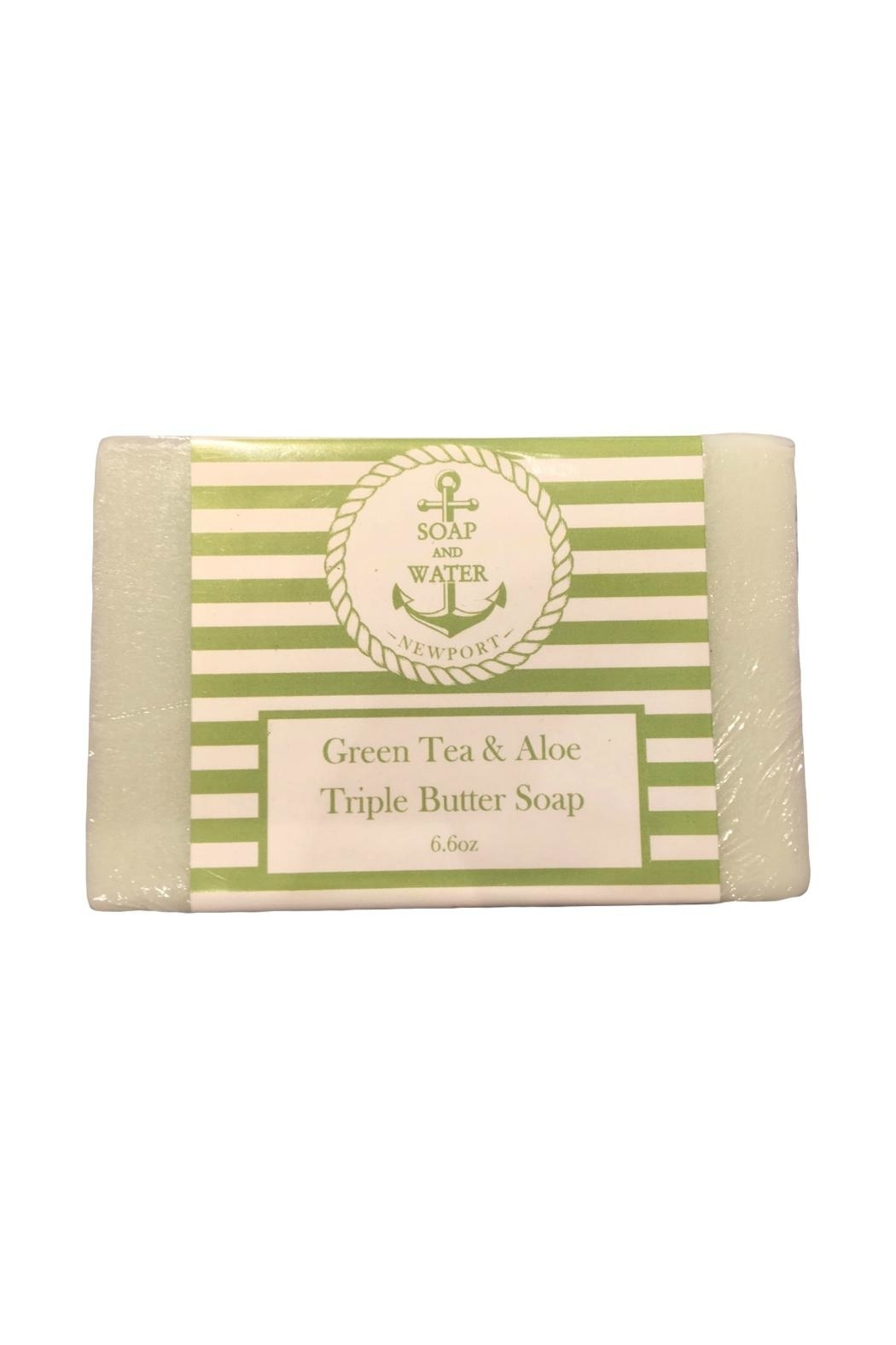 Soap and Water Newport GREEN TEA AND ALOE BAR SOAP - Front Cropped Image