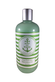 Soap and Water Newport GREEN TEA AND ALOE BODY WASH - Front cropped