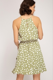 She and Sky Green Tea Bubble Dress - Front full body