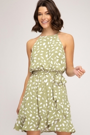 She and Sky Green Tea Bubble Dress - Product Mini Image