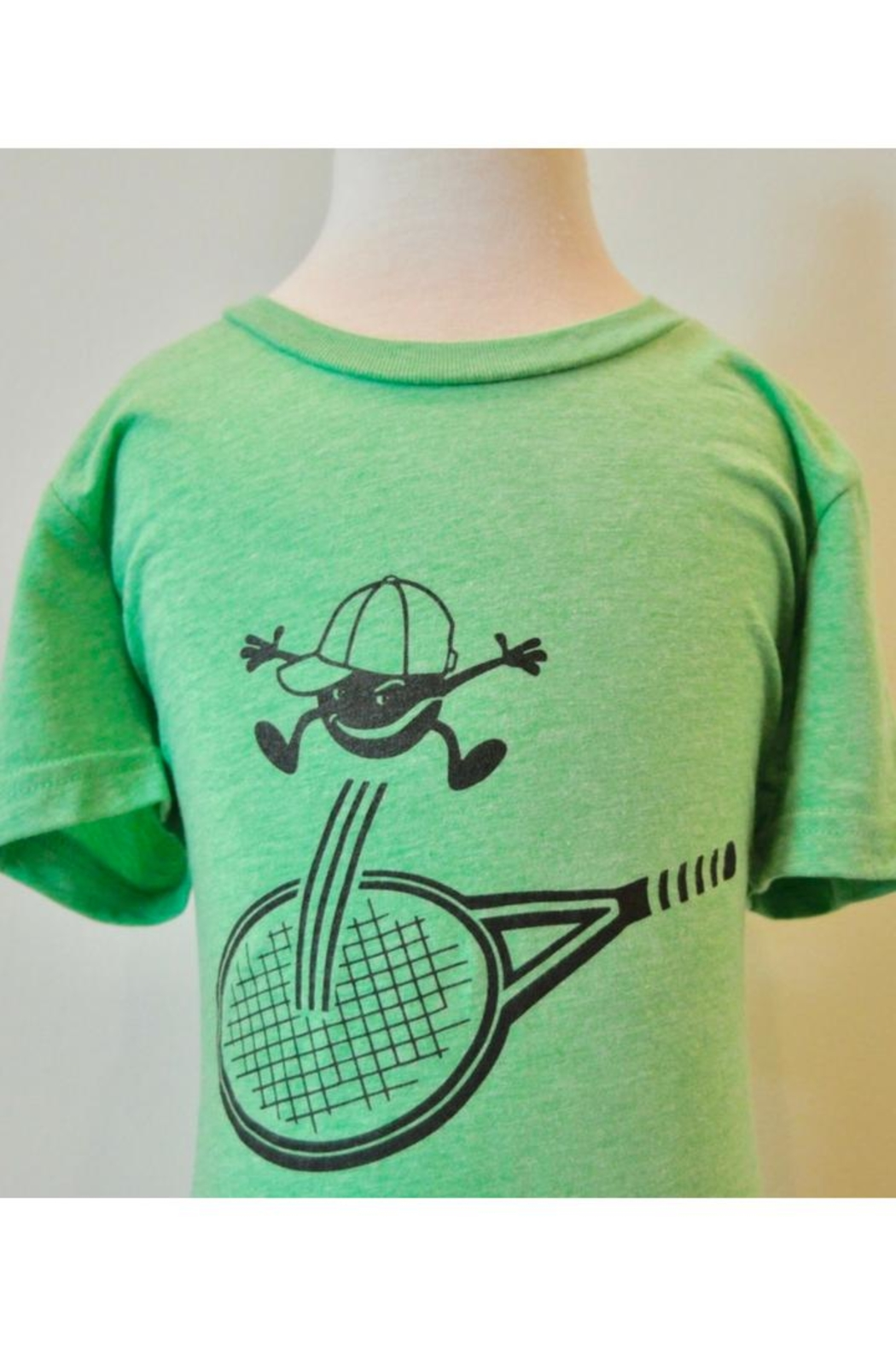 Canvas Green Tennis T-Shirt - Front Cropped Image
