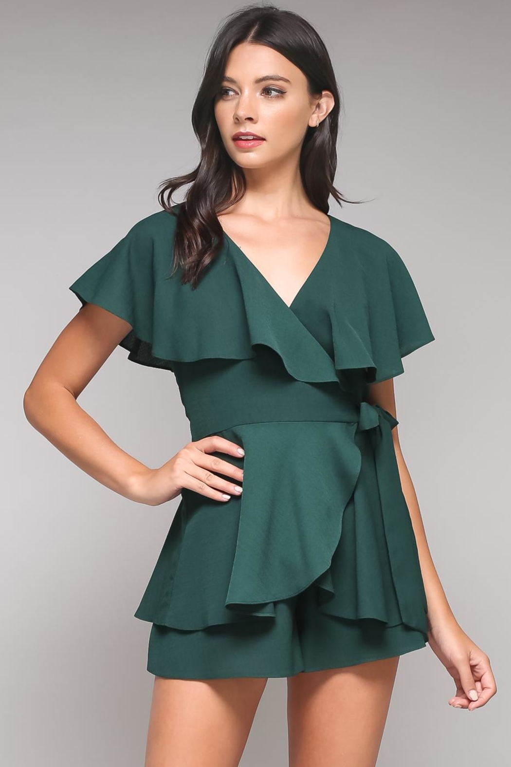 Do & Be Green Tiered Romper - Main Image