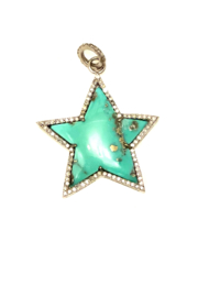 The Woods Fine Jewelry  Green Turquoise Star Pendant - Product Mini Image