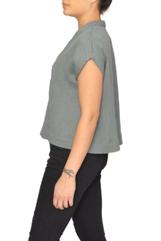 LACAUSA Green V-Neck Top - Front full body