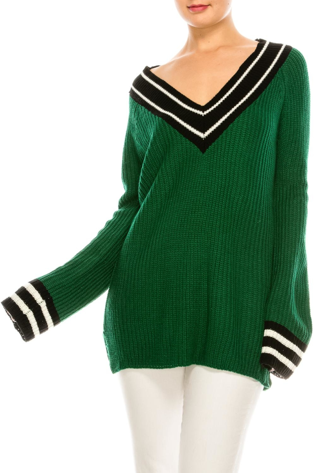 a5314f0ba9a40 Strut   Bolt Green Varsity Sweater from New York by Dor L Dor ...