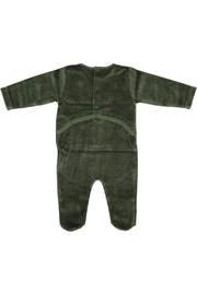 Pounds and Ounces Green Velour Stretchy - Front full body
