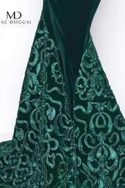 Mac Duggal Green Velvet Gown - Side cropped