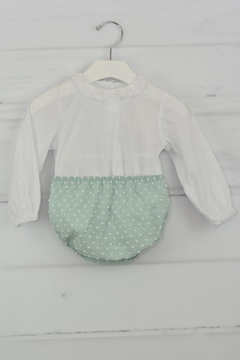 cesar blanco Green & White Outfit - Product List Image