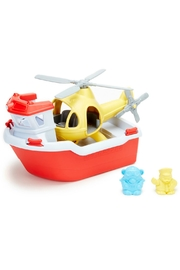 Green Toys Toy Boat & Helicopter - Front cropped