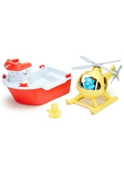 Green Toys Toy Boat & Helicopter - Front full body