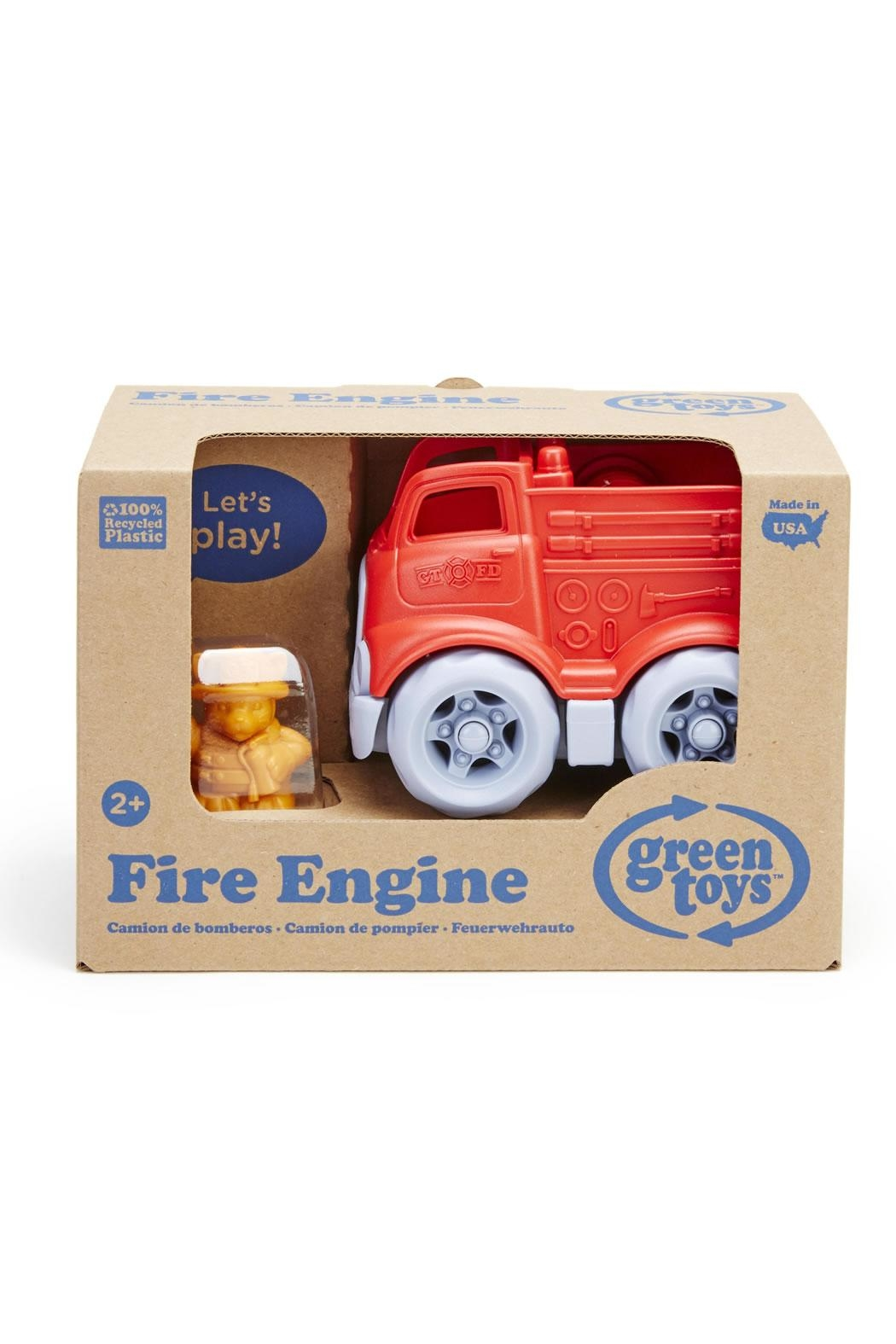 Green Toys Inc Fire Engine Toy - Front Full Image
