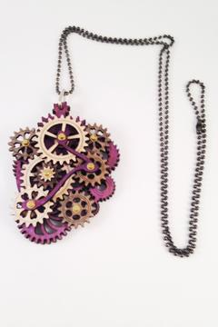Green Tree Jewelry Steampunk Gear Necklace - Product List Image