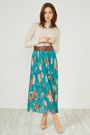 Urban Touch Greenfloral Pleated Midiskirt - Product Mini Image
