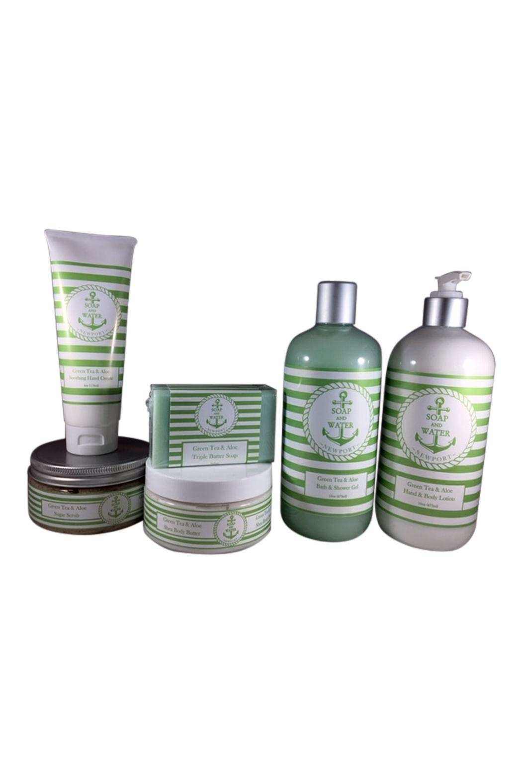 Soap and Water Newport Greentea&Aloe Hand/body Lotion - Front Full Image
