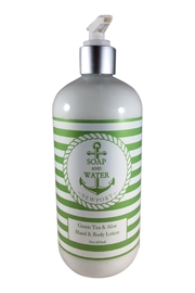 Soap and Water Newport Greentea&Aloe Hand/body Lotion - Front cropped