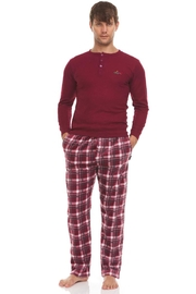 Greg Norman Thermal Top & Fleece Pant Lounge Set - Front cropped