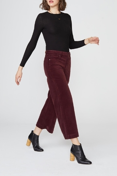 Unpublished Greta Velveteen Cropped - Product List Image