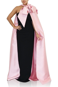 Greta Constantine Leya Capelet Gown - Product List Image