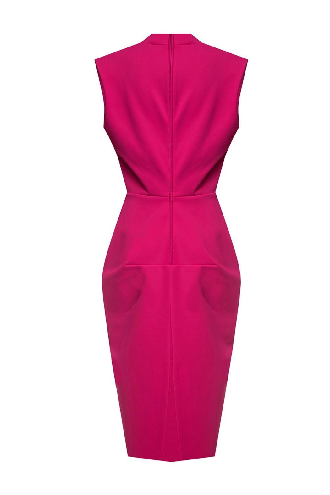 Greta Constantine Vanna Cerise Dress - Side Cropped Image