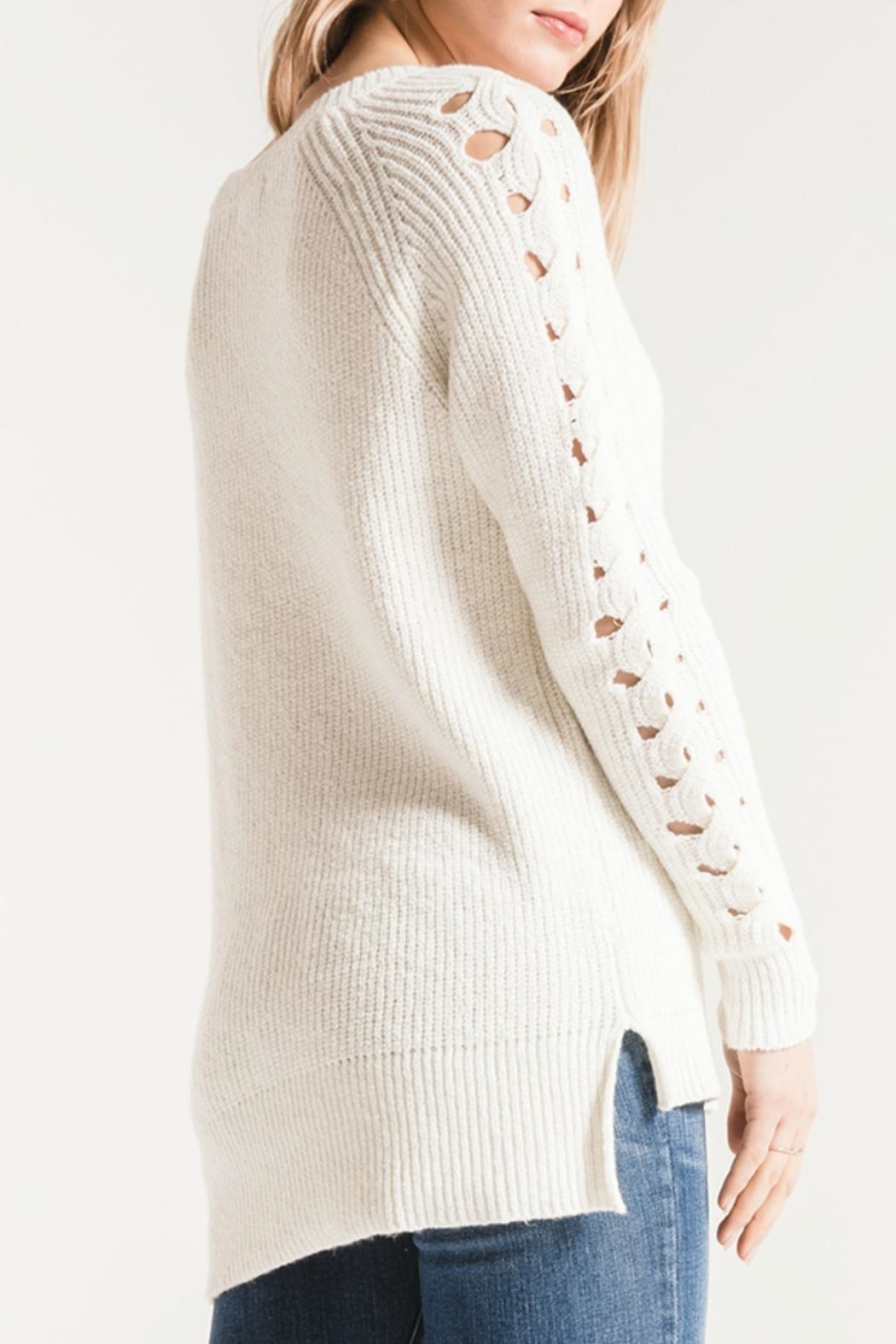 rag poets Gretchen Open-Knit Sweater - Front Full Image