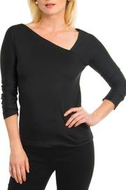 Gretchen Scott Asymmetrical Jersey Top - Product Mini Image