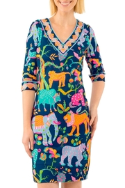 Gretchen Scott Banded V Jersey Dress - Product Mini Image
