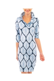 Gretchen Scott Blue Silk Dress - Product Mini Image