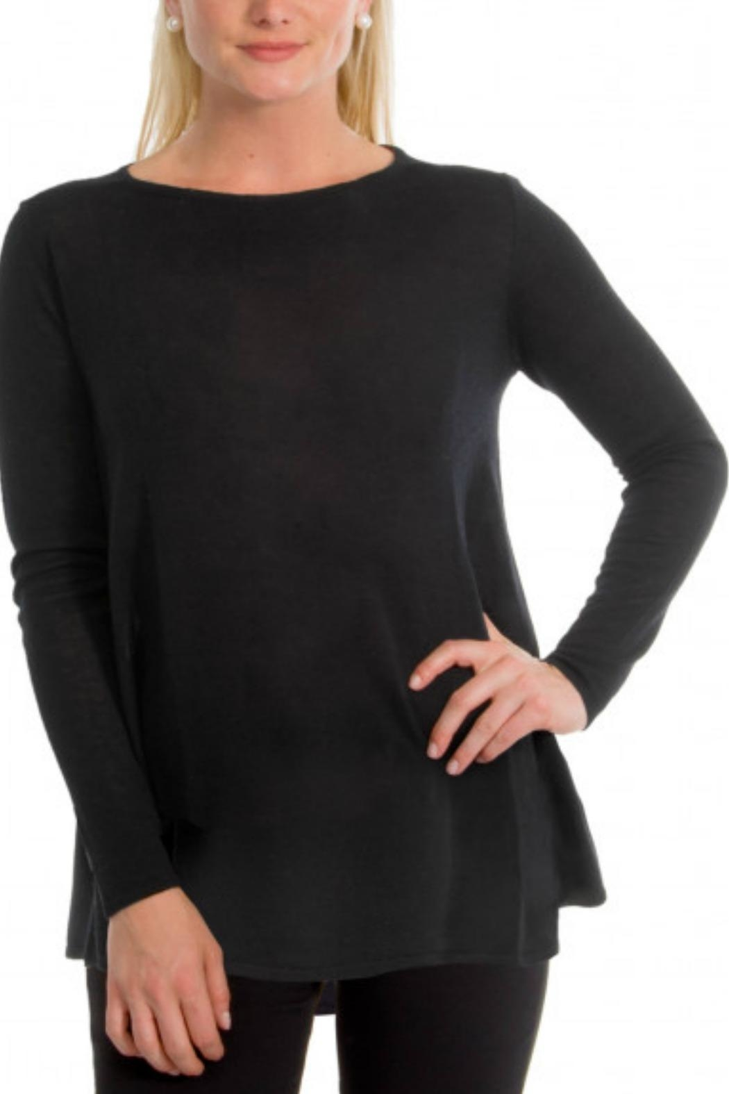 Gretchen Scott Cashmere-Like Swing Sweater - Front Cropped Image