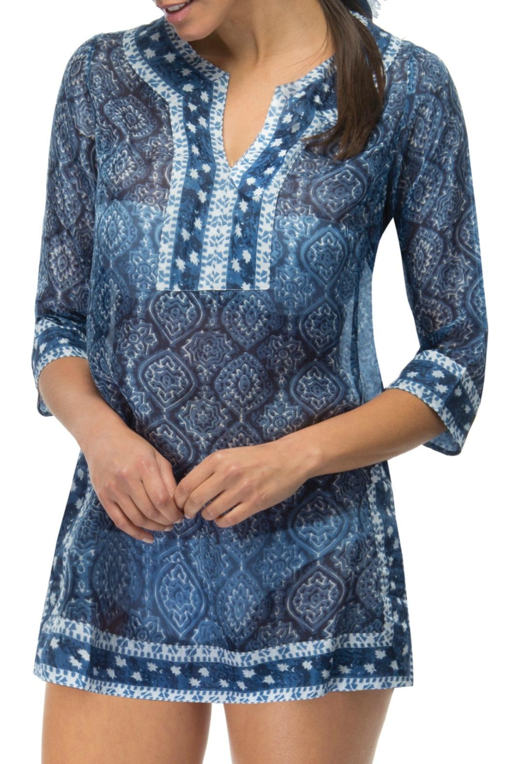 Gretchen Scott Easy Breezy Tunic Dress - Main Image