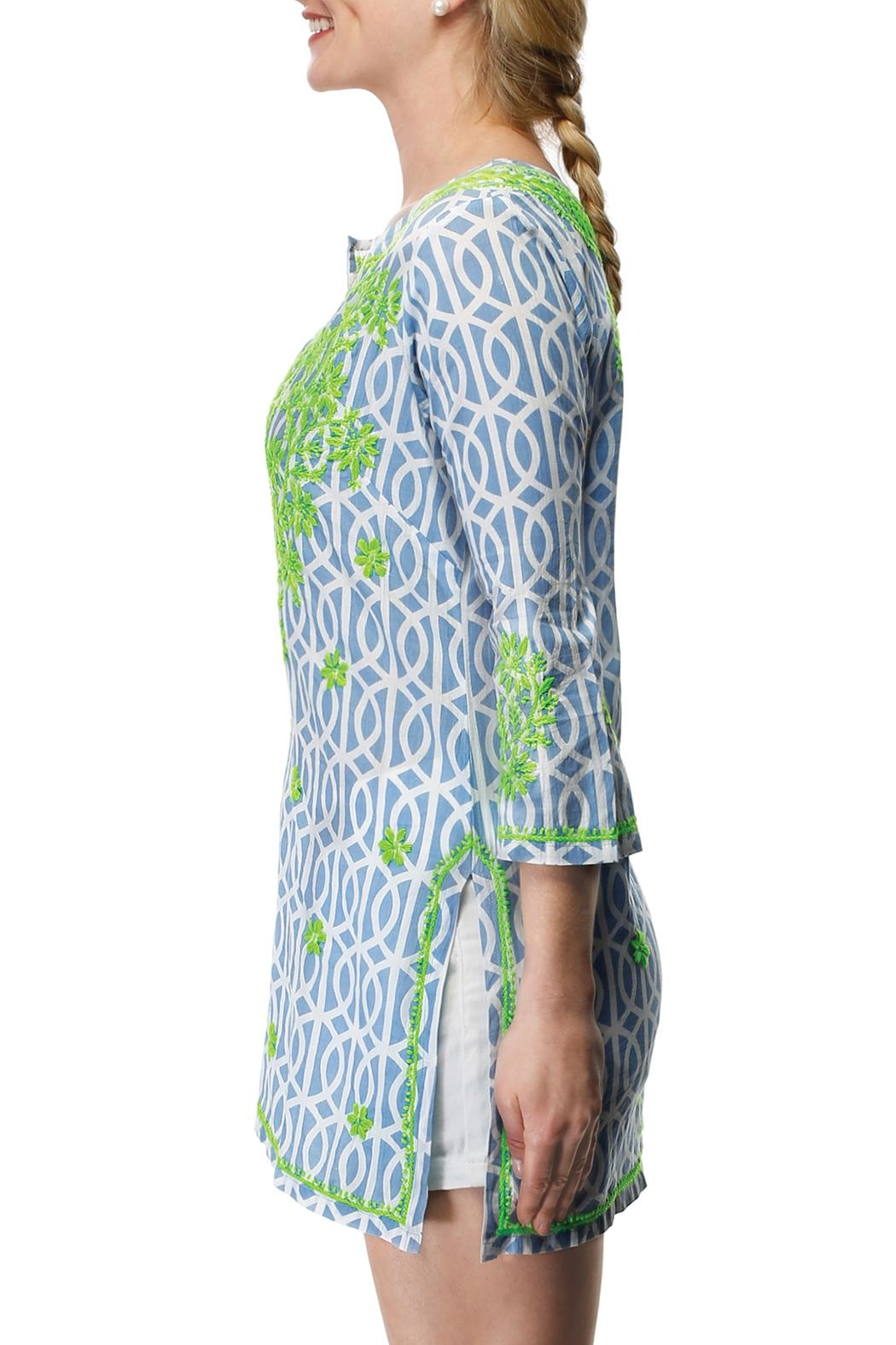 Gretchen Scott Geo Embroidered Tunic - Side Cropped Image