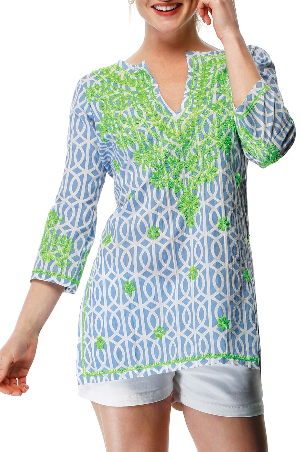 Gretchen Scott Geo Embroidered Tunic - Front Cropped Image