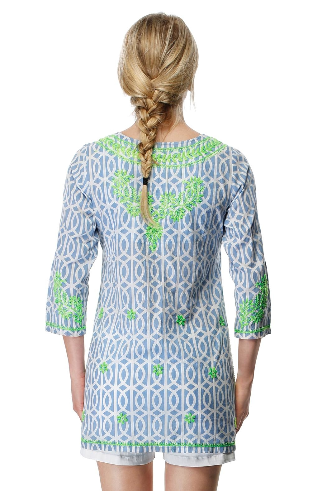 Gretchen Scott Geo Embroidered Tunic - Front Full Image