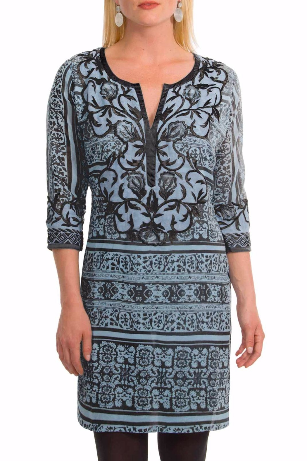 Gretchen Scott Georgette Embroidered Dress - Front Cropped Image
