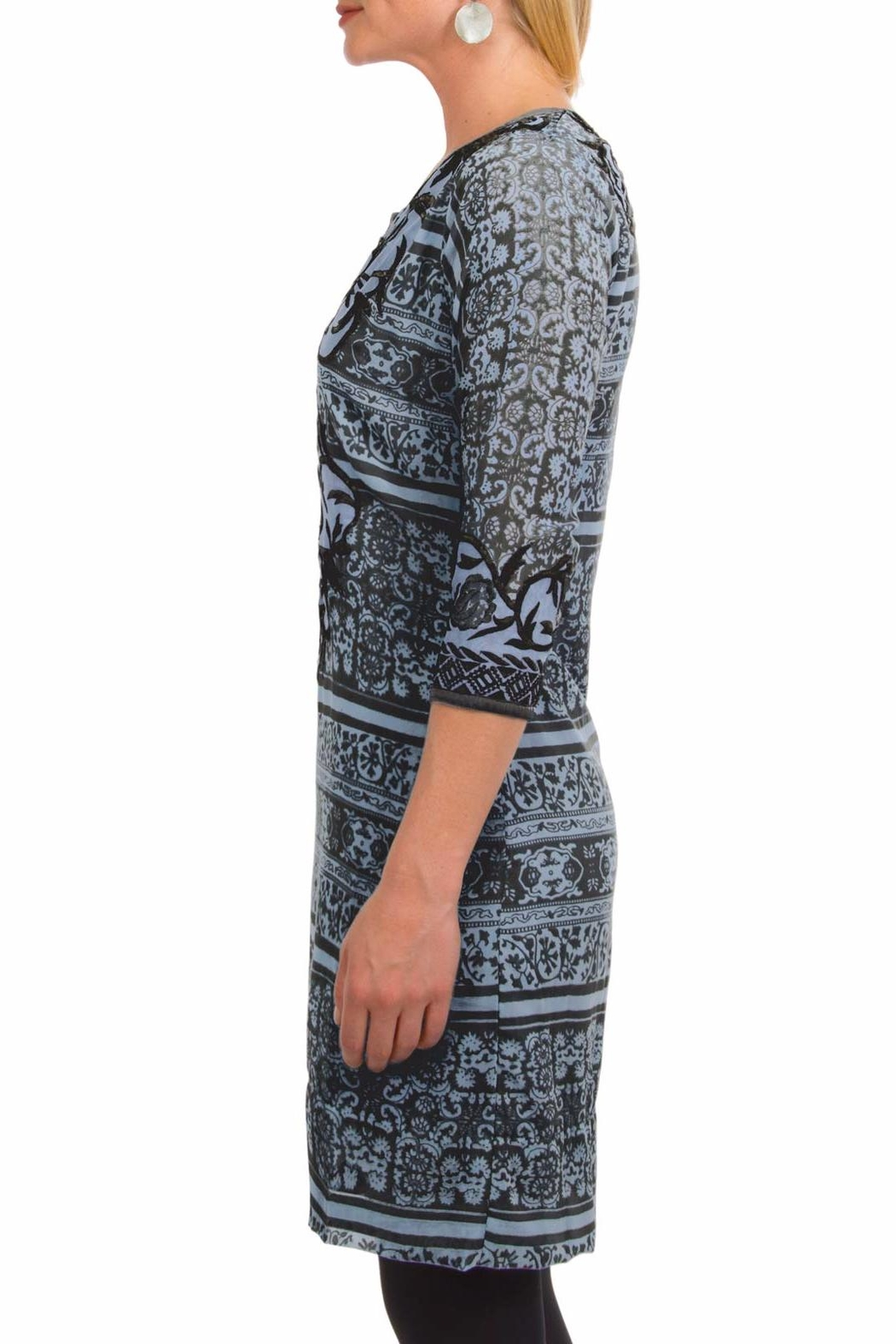 Gretchen Scott Georgette Embroidered Dress - Front Full Image