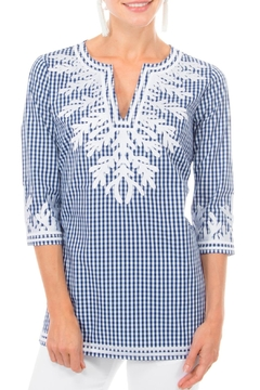 Shoptiques Product: Gingham Reef Tunic Top