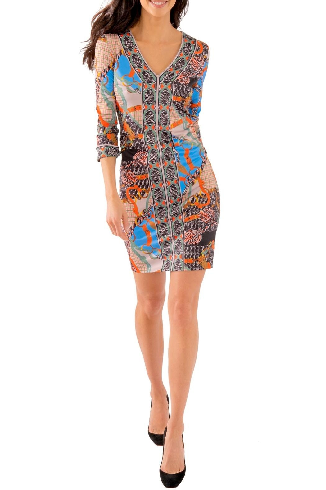 Gretchen Scott Jersey Bordertown Dress-Ditto - Back Cropped Image