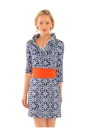 Gretchen Scott Jersey Ruffneck Dress - Product Mini Image