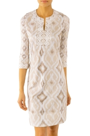 Gretchen Scott Jersey Split Neck Dress - Product Mini Image