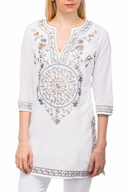 Gretchen Scott Mandala Embroidered Tunic - Product Mini Image