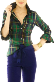 Gretchen Scott Priss Blouse- Plaidly Cooper - Product Mini Image