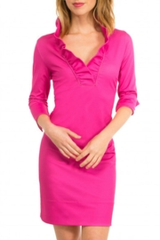 Gretchen Scott Ruffle Neck Dress - Product Mini Image