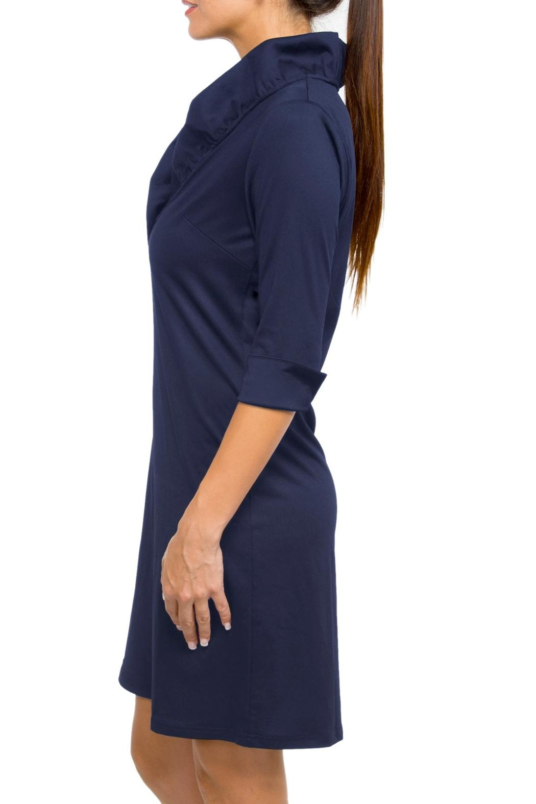 Gretchen Scott Ruffneck Jersey Dress - Front Full Image