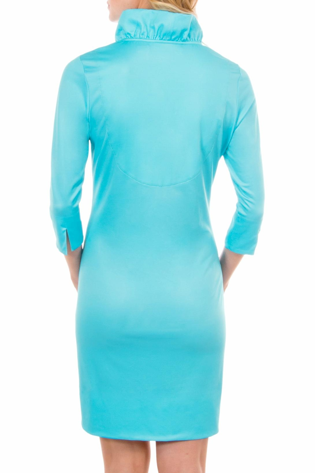Gretchen Scott Ruffneck Jersey Dress - Side Cropped Image