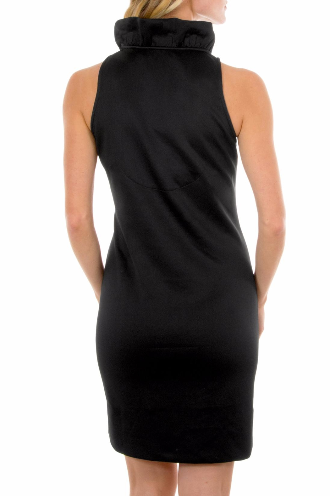 Gretchen Scott Black Sleeveless Jersey Dress - Side Cropped Image