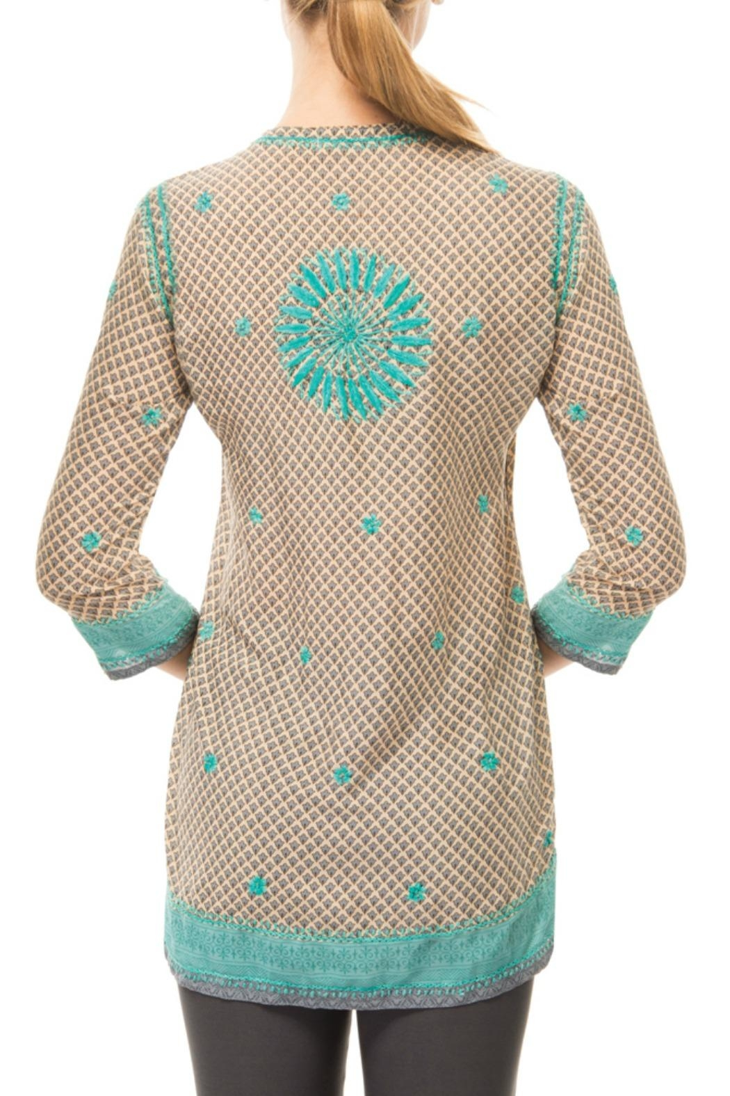 Gretchen Scott Silk Embroidered Tunic Top - Side Cropped Image
