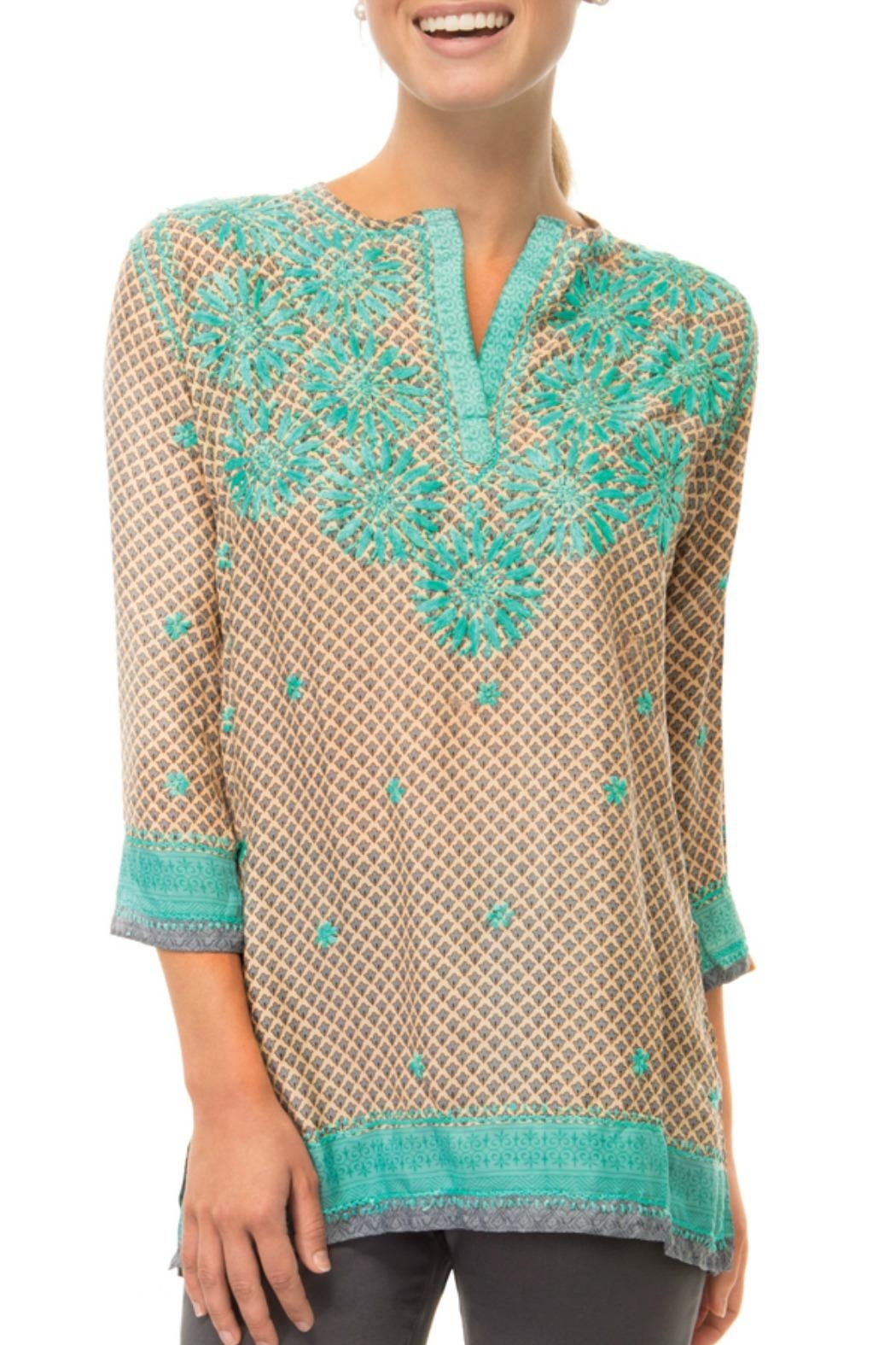 Gretchen Scott Silk Embroidered Tunic Top - Main Image