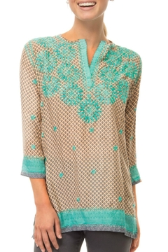 Shoptiques Product: Silk Embroidered Tunic Top